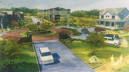 If approved by the city, Hidden River Estates, a 384-unit town house development, will be built near the greenway.