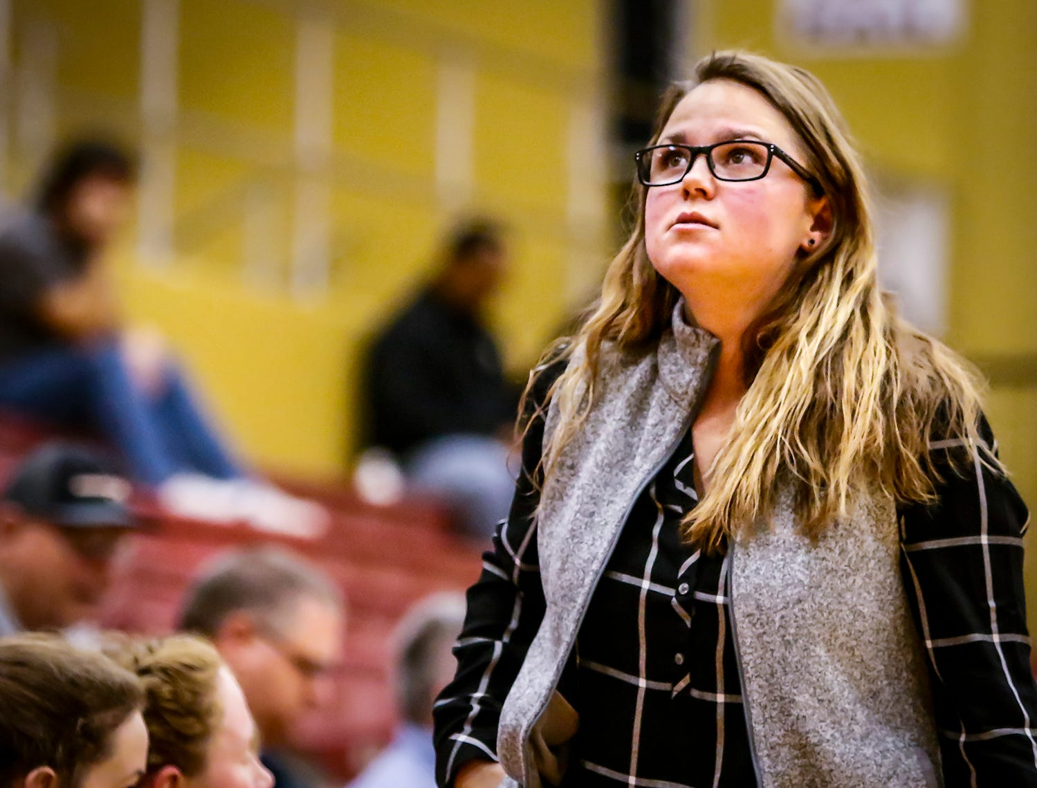 Riverdale coach Amy Josephson watches State Farm Classic action Thursday.