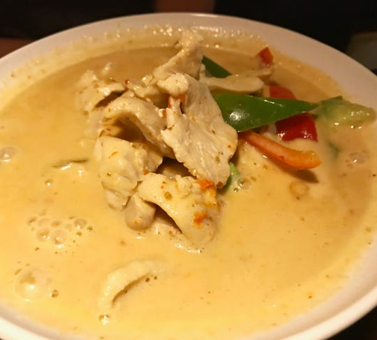 Panang chicken curry from Tokyo Thai Sushi in East Naples.