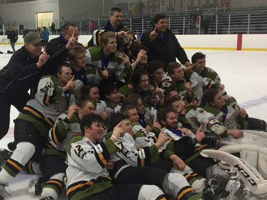 The Newark Generals celebrated their 2018 state championship at Chiller North after a 6-2 win against Cincinnati Indian Hill.