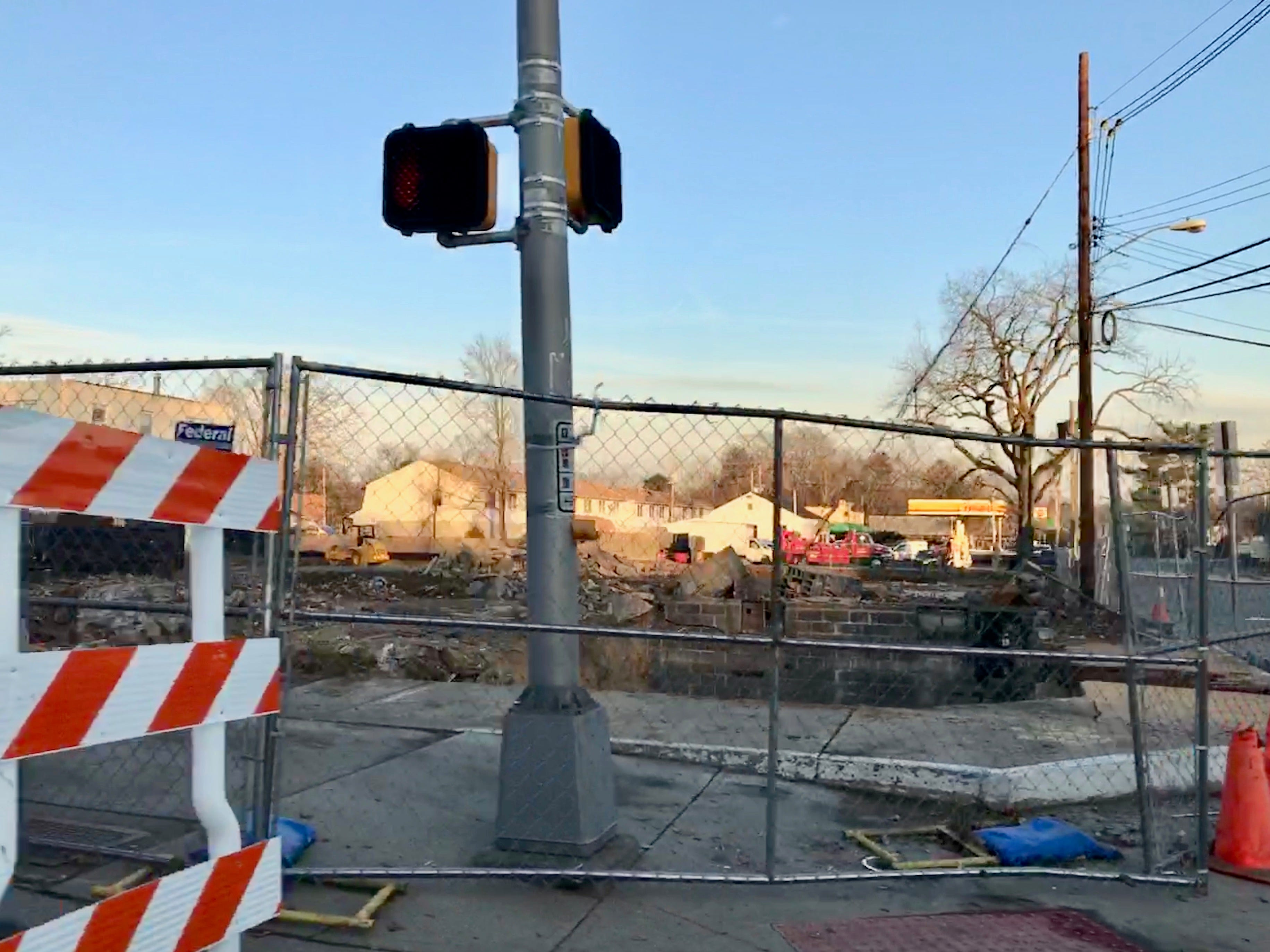 The site of the former Jones' Hardware pictured on Dec. 27, 2018 after the last building was demolished to make way for a new Chase bank.