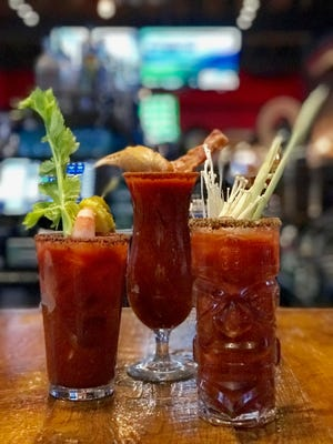 Bloody Marys at Mr. Crabby's come with many garnishes.