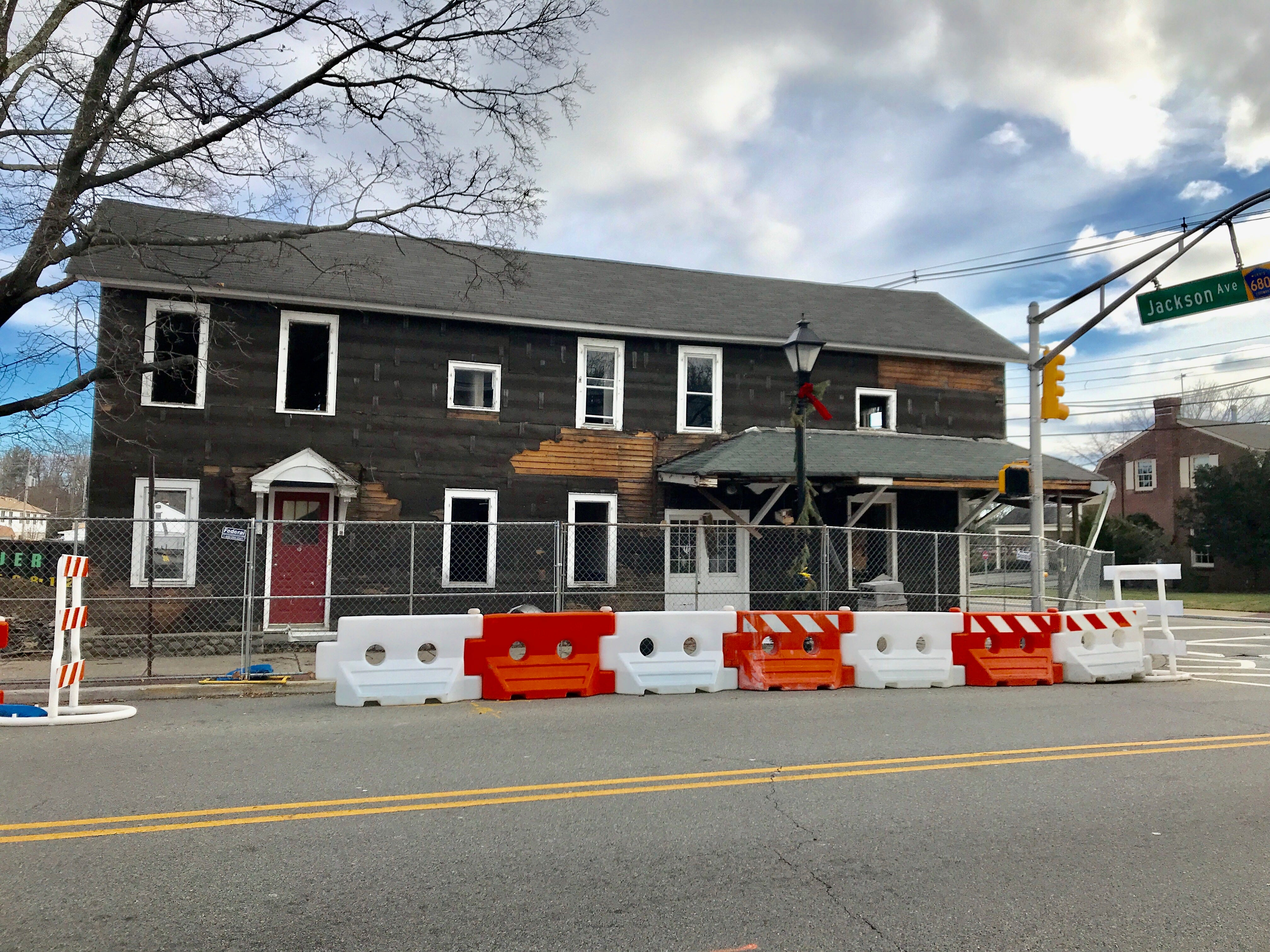 The Jones' Hardware building in Pequannock pictured on Christmas Day, 2018. The building was the last to be demolished days later to make way for a new Chase bank.