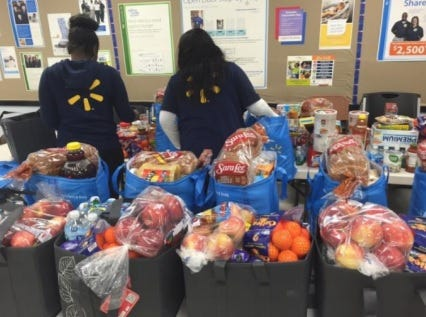 Wal-Mart and the Wal-Mart Foundation announced they have made grants and donated more than 7.7 million pounds of food to New Mexico food pantries and non-profits helping fight hunger during fiscal year 2018.
