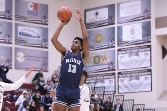 Mayfair's Josh Christopher shoots the ball during the game against the Knight's during the Rancho Mirage Holiday Classic in Rancho Mirage on Thursday, December 27, 2018.
