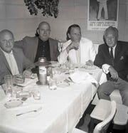 "Opening of Ruby's Dunes nightclub with Jimmy Van Heusen, a famous composer, Frank Sinatra and  Irwin ""Ruby"" Rubenstein."