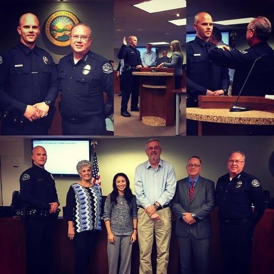 Travis Chapman was sworn into the Desert Hot Springs Police Department on Dec. 5, 2016.