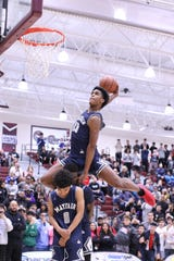 Mayfair's Josh Christopher dunks the ball during the dunk contest at Rancho Mirage Holiday Classic in Rancho Mirage on Thursday, December 27, 2018.
