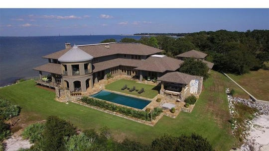The most expensive house currently on the market in either Santa Rosa or Escambia counties is this $12 million waterfront abode on its own peninsula in Gulf Breeze. The six-bedroom, 7.5-bathroom mansion boasts nearly 12,000 square feet and water views on three sides. It's listed by Todd Vannoy with Real Estate International Inc., 850-830-7253.