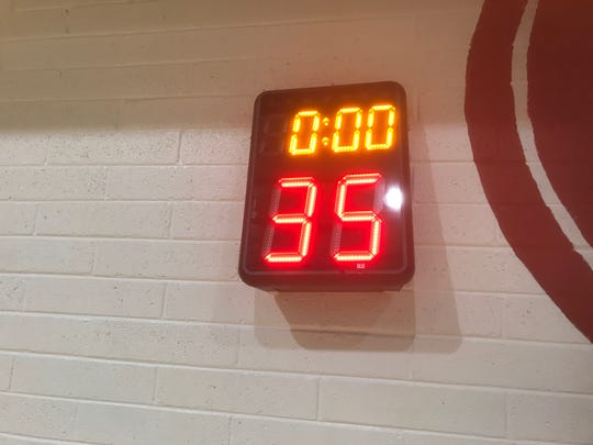 The 35-second shot clock at the Visit Mesa Basketball Challenge hasn't had any reported impact on play.