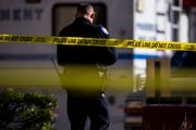 Phoenix police work the crime scene after a police-involved shooting at an apartment complex on Dec. 28, 2018.