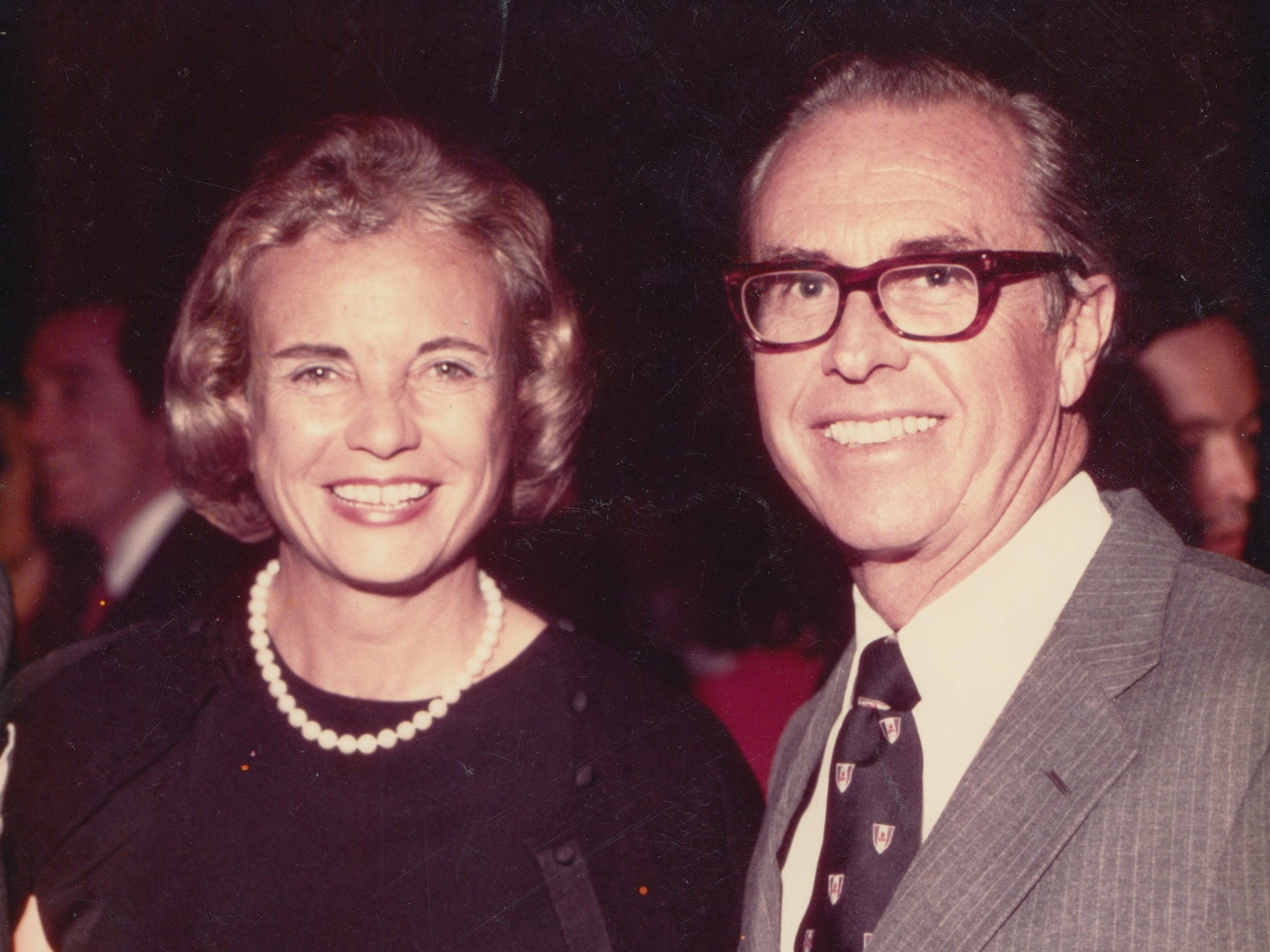 Sandra Day O'Connor and her husband, John Jay O'Connor III, when Sandra Day O'Connor was nominated to the Supreme Court in 1981.