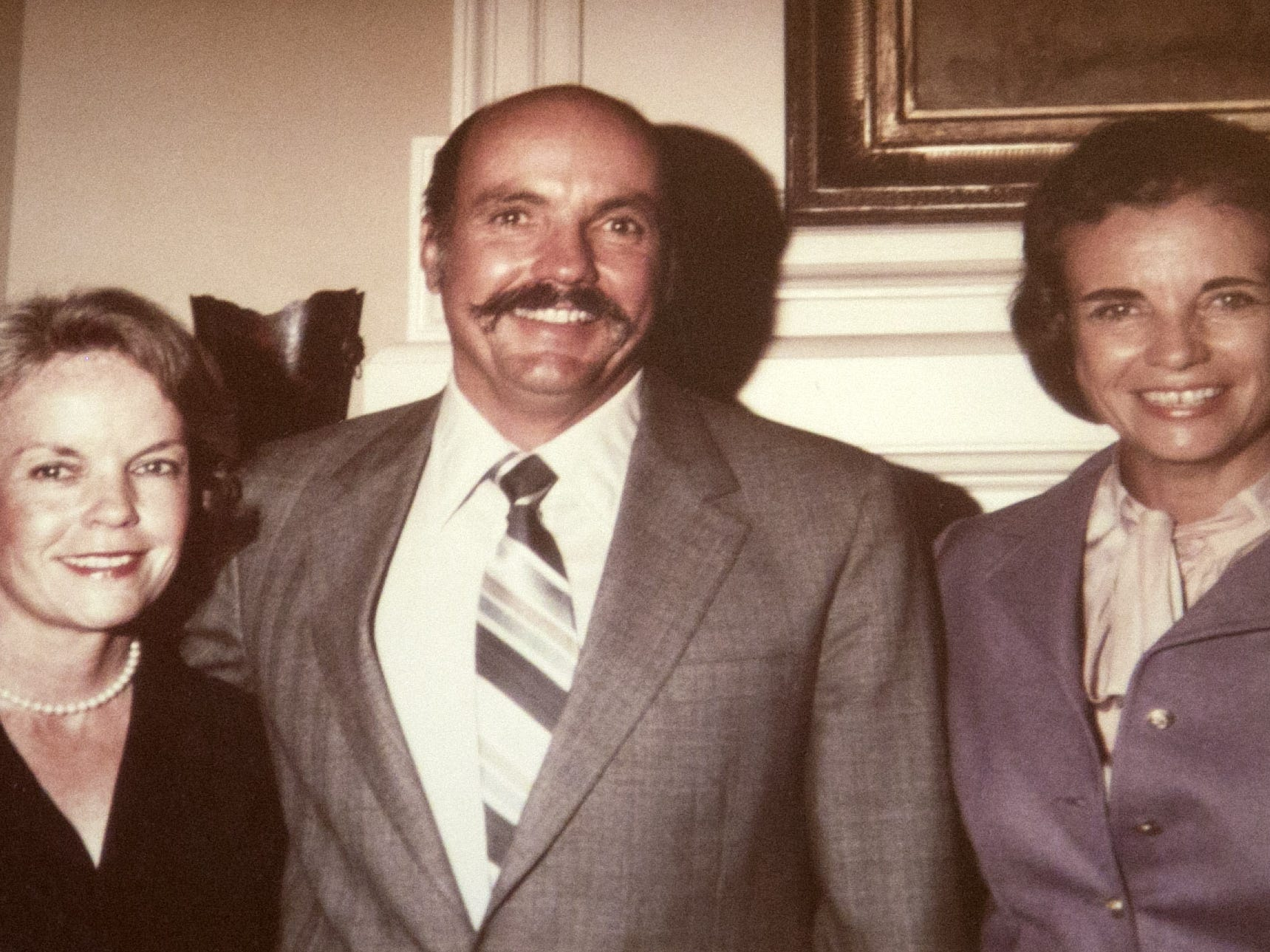 Sandra Day O'Connor (right) with her brother, Alan Day, and sister, Ann Day, when Sandra Day O'Connor was nominated to the Supreme Court in 1981.