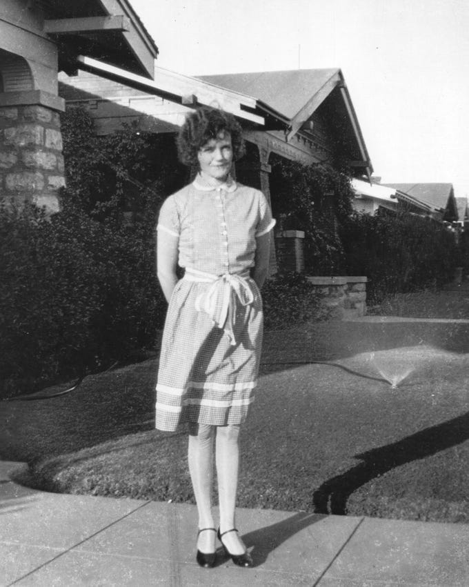 Sandra Day O'Connor in El Paso Texas, in the 1940s. O'Connor was born in El Paso.