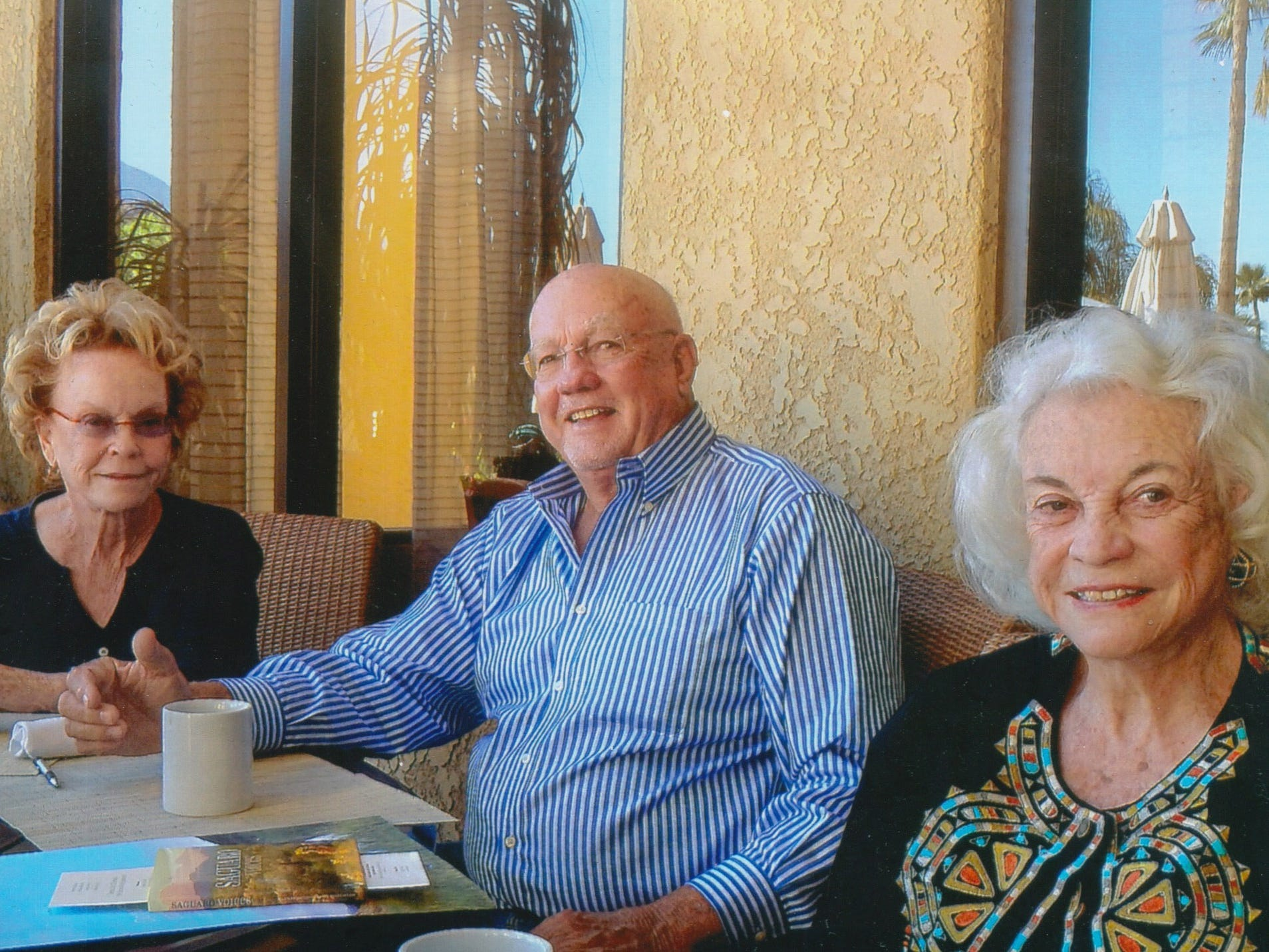 Sandra Day O'Connor (right) with her brother, Alan Day, and sister, Ann Day.