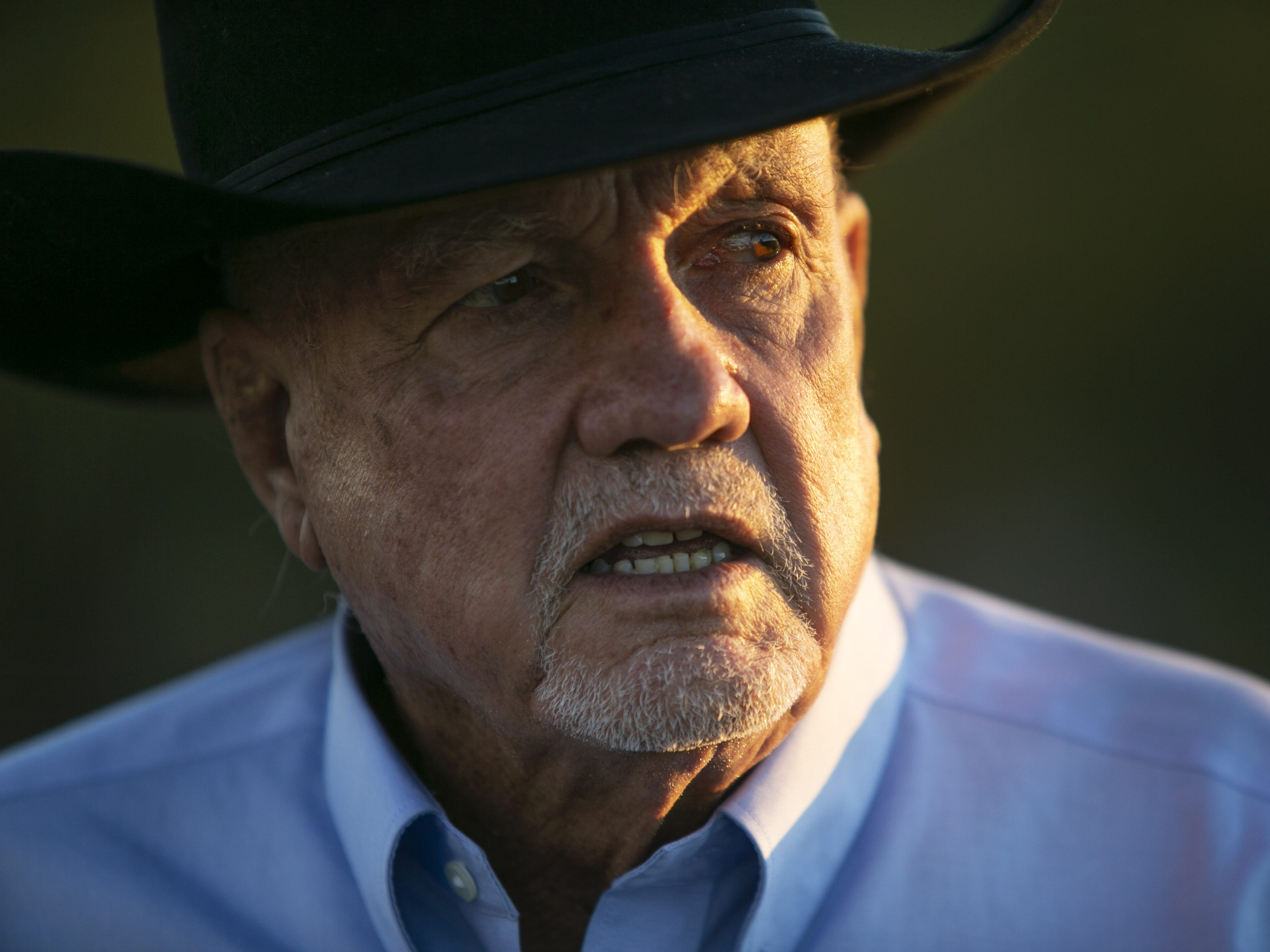 Alan Day of Oro Valley, the brother of former Supreme Court Justice Sandra Day O'Connor, at the Lazy B Ranch, a cattle ranch outside of Duncan, Ariz., on Nov. 2, 2018. Former Supreme Court Justice Sandra Day O'Connor grew up on the ranch.