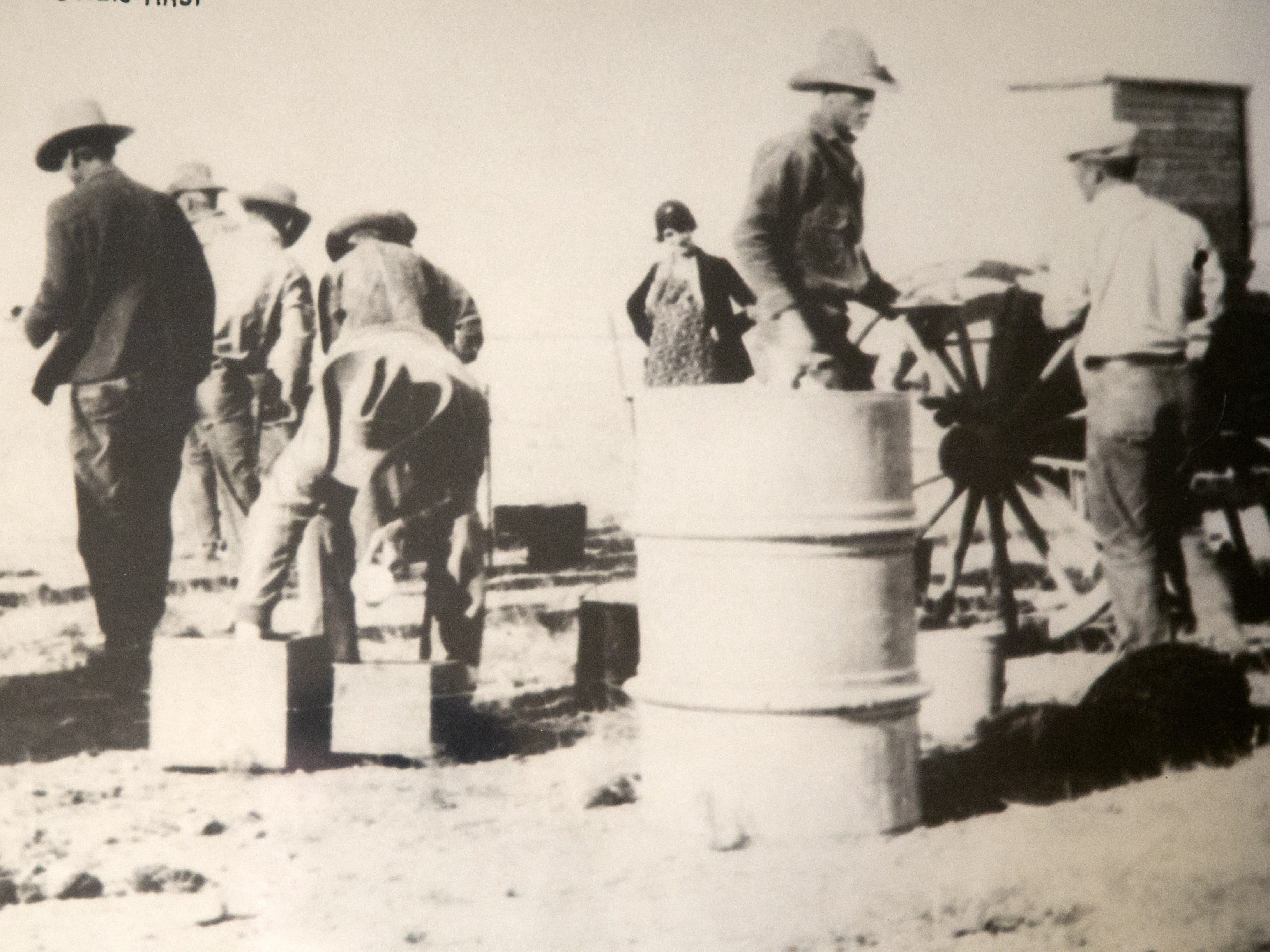 Life on the Lazy B Ranch in Duncan Ariz., in 1930. Ada Mae Wilkey Day (background center) is seen pregnant with Sandra Day O'Connor. Former Supreme Court Justice Sandra Day O'Connor grew up on the ranch.