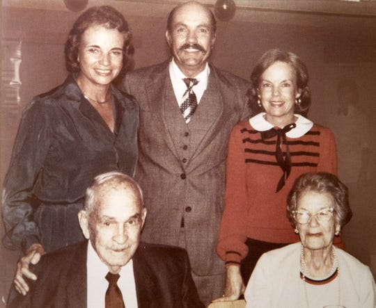 Sandra Day O'Connor (top left) with her family (from left) father, Harry Alfred Day, brother, Alan Day, sister, Ann Day and mother, Ada Mae Wilkey Day, when Sandra Day O'Connor was nominated to the Supreme Court in 1981.