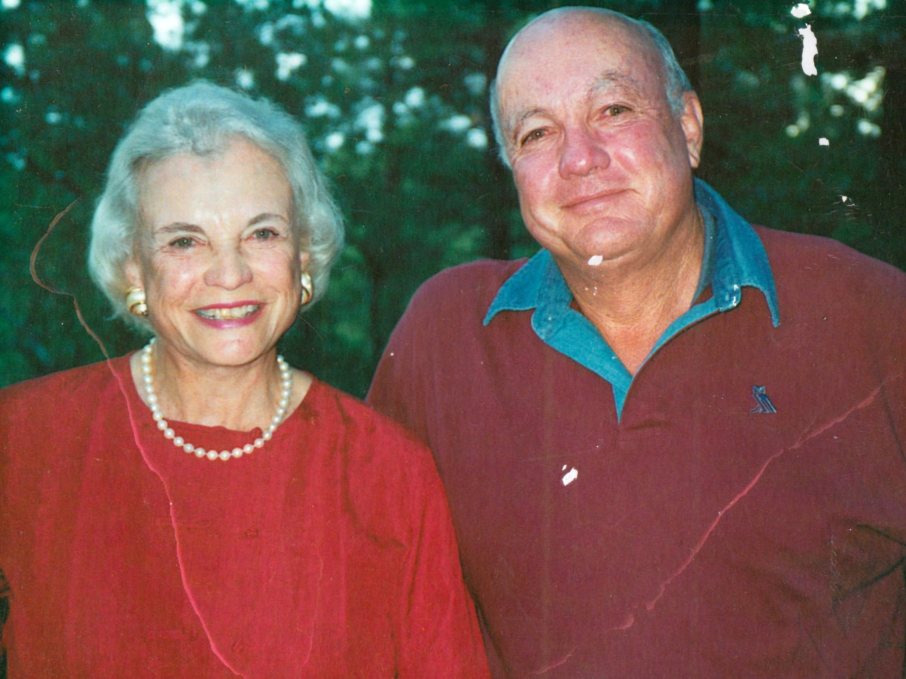 Sandra Day O'Connor, and her brother Alan Day in 2003.
