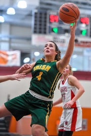 York Catholic's Gina Citrone is seen here in action earlier this season. The Fighting Irish (17-6) are the No. 1 seed in the District 3 Class 2-A field.