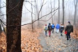 Rain and fog make for a memorable Marshmallow Hike at Rocky Ridge County Park.