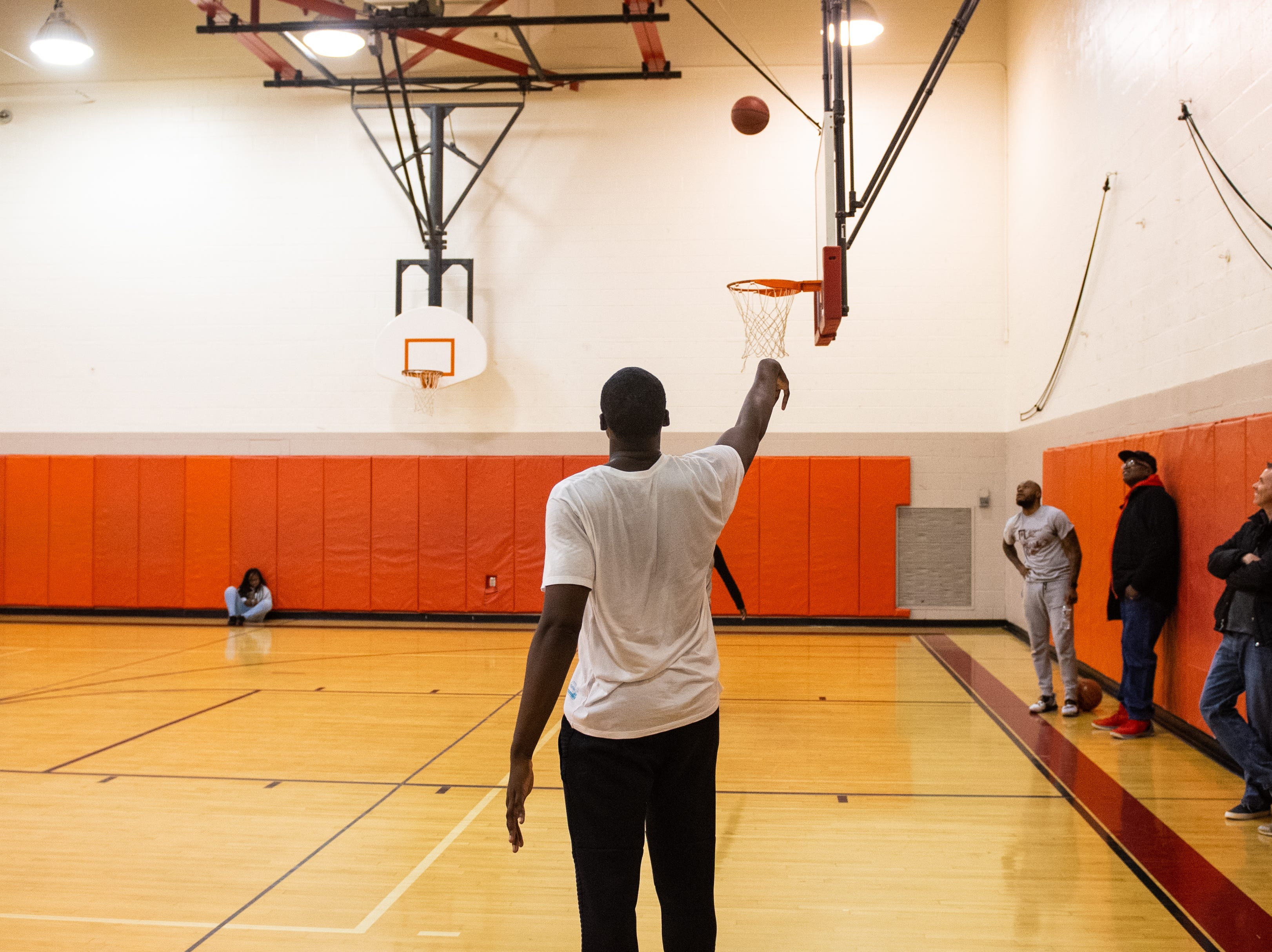 Jarace Walker trained in one of Susquehannock High School's gyms. He hadn't shot on any of their rims since his last home basketball game a year ago.