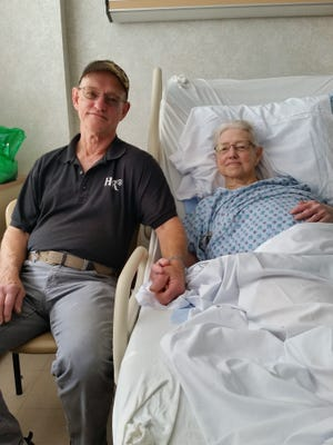 Lucille Sanderfer is pictured with her son, David.