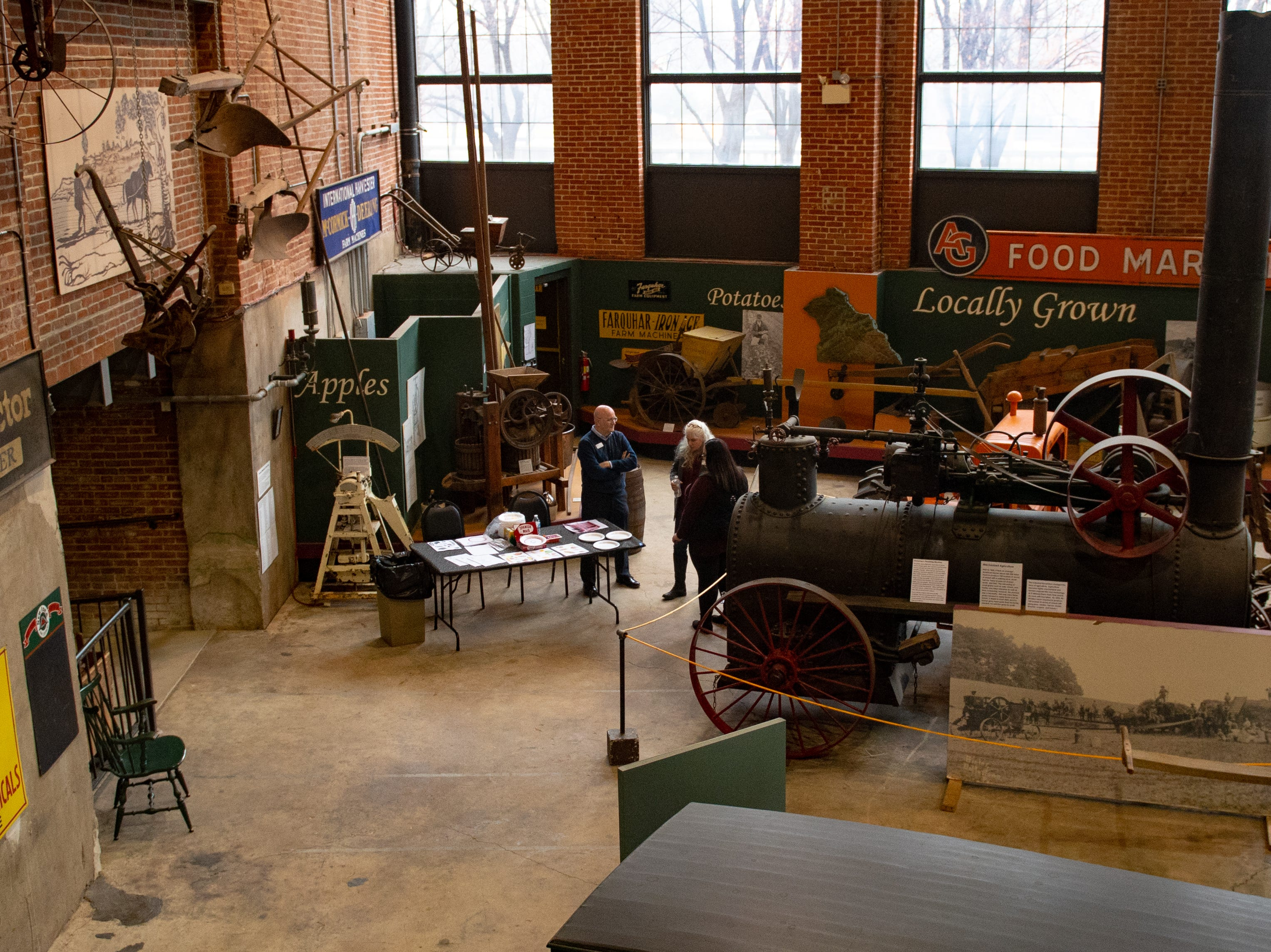 Family Activity Day is spread throughout the Agricultural and Industrial Museum. An educational booth sits in each part of the building, Friday, December 28, 2018.