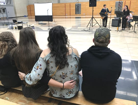 A memorial to Foothill High School graduate Sarah Papenheim was held Thursday night at the Palo Cedro campus. Papenheim, 21, was slain in the  Netherlands in December and her roommate was arrested for investigation of the murder.