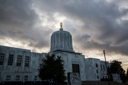 The Oregon State Capitol in Salem on Thursday, Dec. 27, 2018.
