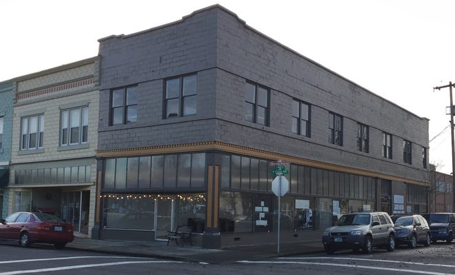 The Beauchamp Building in downtown Stayton is the site of The Box, a new shared office space.