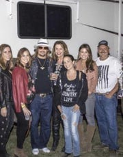 David Drew (right) with Kid Rock and others when the singer came to Salinas.