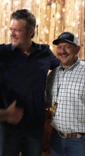 David Drew (right) helped bring big names like Blake Shelton to perform in Salinas.