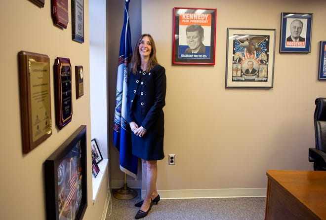 Del. Eileen Filler-Corn, D-Fairfax County, stands in her office Dec. 18 in Richmond. She was chosen by Democrats this month to be minority leader for the Virginia House of Delegates, the first time a woman has held the position.