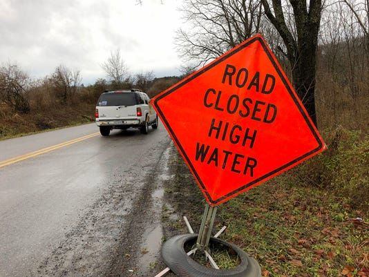 Water Across Christians Creek Road