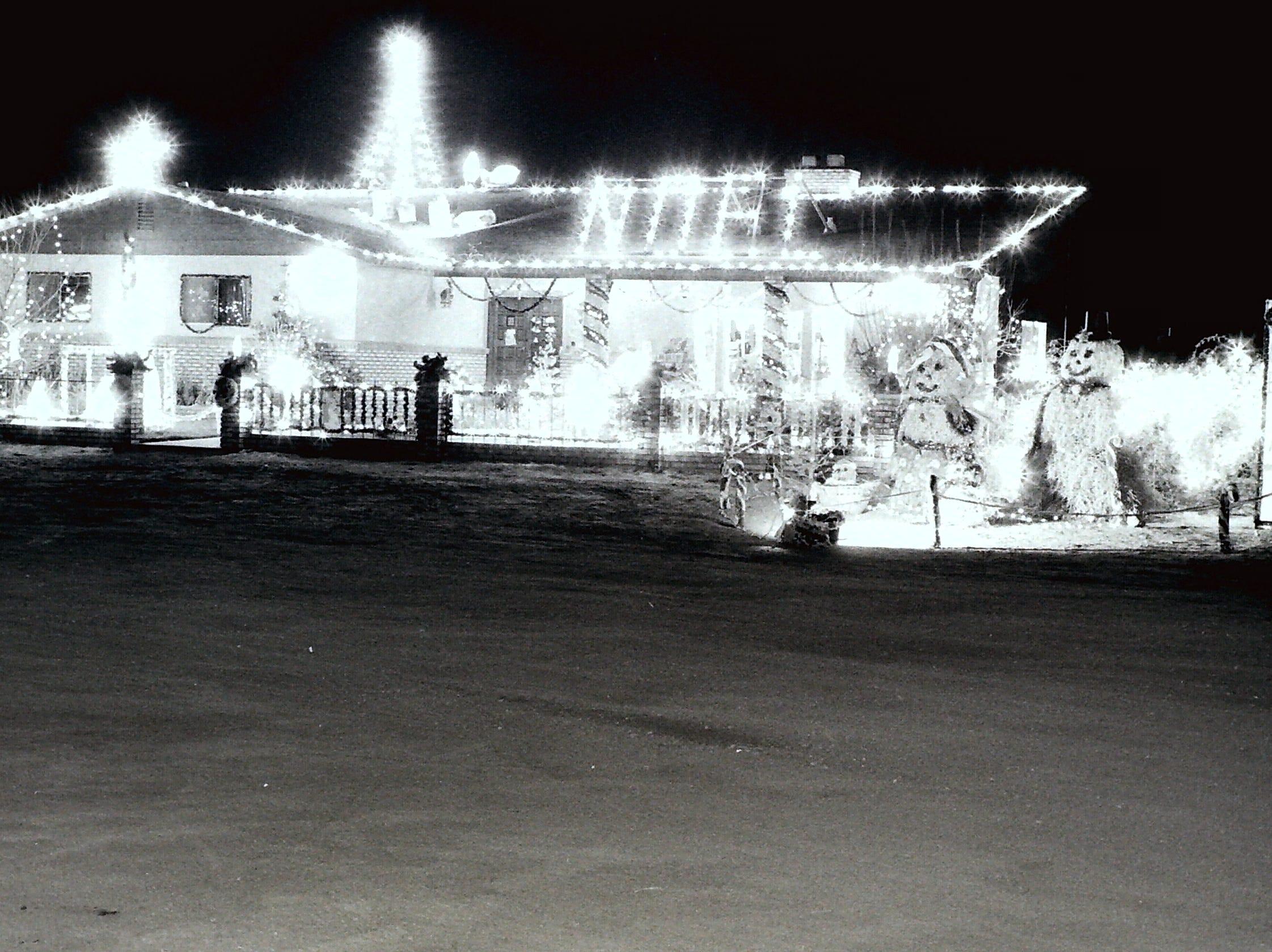 Christmas lights circa 1985.
