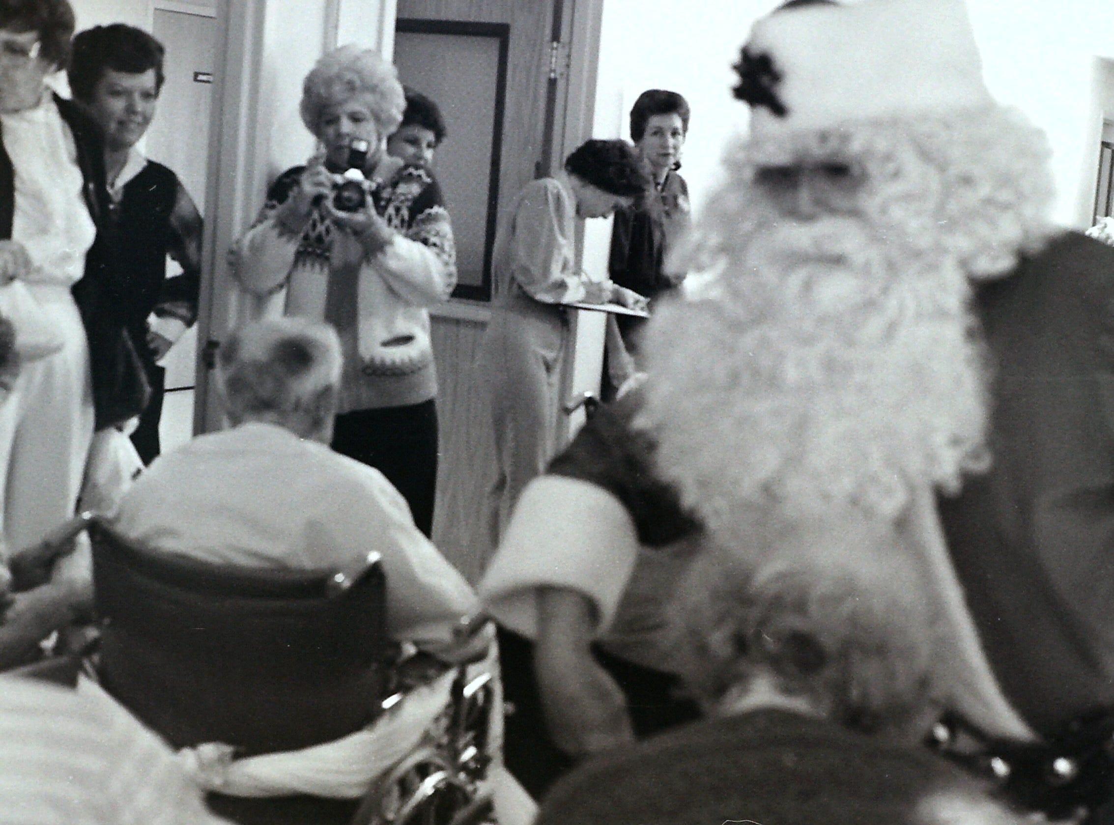 Christmas at St. George Care Center circa 1985.
