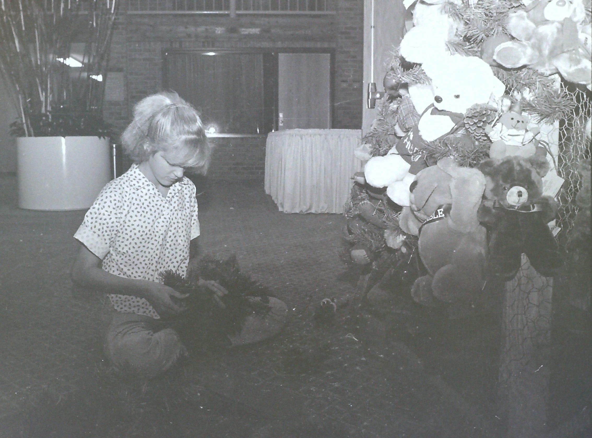 Tree designers prepare for the Jubilee of Trees circa 1985.