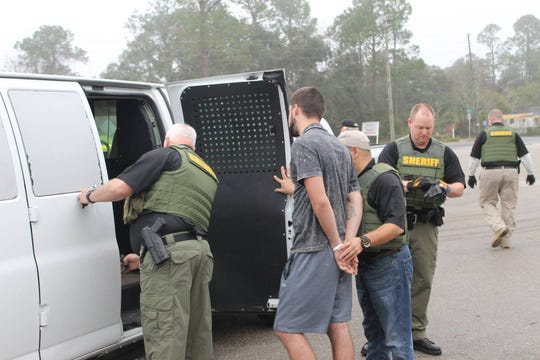 "The Wakulla County Sheriff's Office makes arrests as part of its ""Operation Dry Ice."""