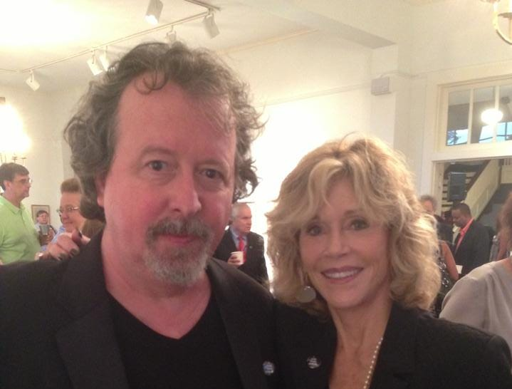 Mark Hinson and Jane Fonda.