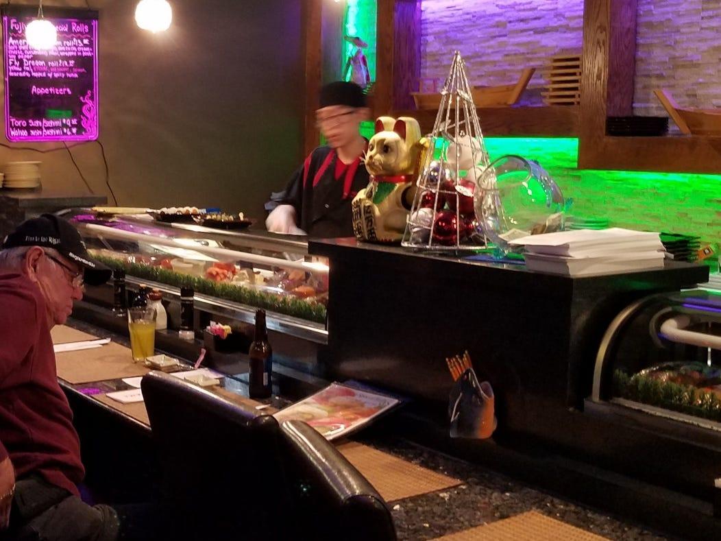 Fujiyama's sushi bar.