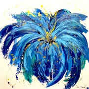 "This ""Burst"" is a beautiful example of this local artist's work."