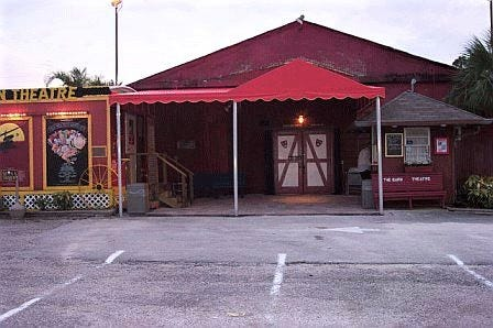 Front entrance to The Barn Theatre.