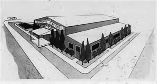 Drawing of the original plans as of January 1971 to renovate the Barn Theatre.