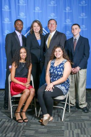 From left, back row, are Yan Morrison, Aileen Pruitt, Ken Pruitt, and Christian Galentine. From left, front row are Kayla Williams and Yaluris Torres.