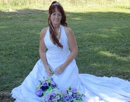 Judy Mounts on her wedding day in March 2012.