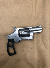 A handgun found Thursday night without a serial number.