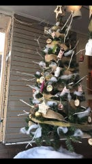 Anthony Rossi Middle School's entry place second in Main Street Vineland's Christmas Tree Decoration Contest on The Ave.