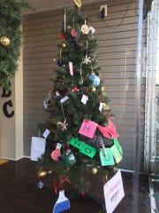 AMSA (Applied Mathematics and Science Academy) Johnstone School's entry placed third in Main Street Vineland's Christmas Tree Decoration Contest on The Ave.