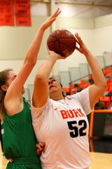 Burkburnett's Karissa Durham takes the shot Friday morning against Paradise at the Union Square Lady Bulldog Christmas Classic.